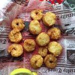 $16 shrimp and scallops (shrimp certainly live up to their name!)