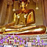 Temple seated Buddha