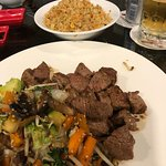 filet and fried rice