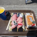 My lunch in Kuroshio Market with the sea view
