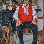 Portrait of Micheal O Siadhail 2003 Irish school Oil on linen 129.5 x 96.5cm Mick O'Dea b.1958