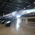 You cannot see Concorde clearly as if in proper light, and floor plinths are the only technical