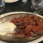 the Ribeye Steak Kabob (Yum!)