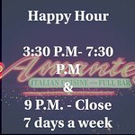 Our happy hour time for the month of september