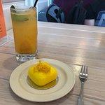 """Облепиховый лимонад и десерт """"Тропик"""""""