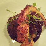 Octopus with pork head and mole small plate