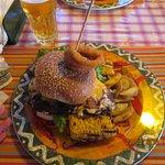 a steak burger