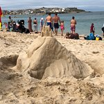 Sand castle on Porthminster Beach