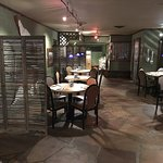 Flagstone floors and comfortable surroundings.