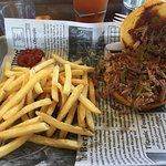 the best pulled pork with fries