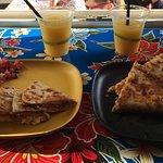 Frozen margarita & Quesadillas