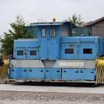 Shunting locomotives on display