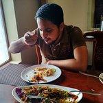 Me tasting thai food