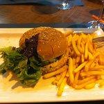 burger with vegan soy burger patty