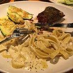 The steak and fettucine meal