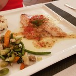 Sea bream with sauce vierge
