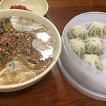 Kalguksu noodles and dumplings