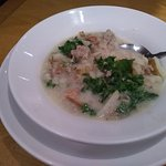 The greens in the Zuppa Toscana were very fresh.