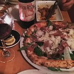 Covaccino Pizza & remains of Fried Calamari