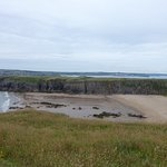 A secret bay with Tenby in the background