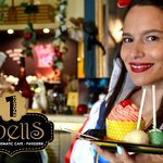 Spells thematic cafe patisserie in heraklion. Our Snowwhite in cake celebration day.