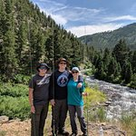 3 Happy Teenagers on the Yellowstone River