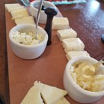 Cheese board with honey butter to die for