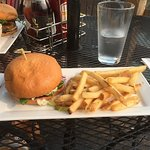 Portabello Burger and Fries
