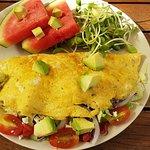 The pesto feta omelette