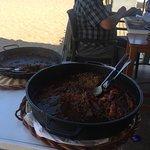Caldero y arroz seco .. cerquita mio