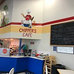 Chipper's Cafe Menu and ordering counter