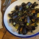 Mussels starter . Lovely