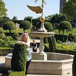 lovely fountain in garden x