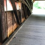 Gilpins Covered Bridge windows and architecture