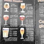 Carte des bières
