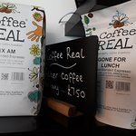 All our coffee is sourced and roasted by Coffee Real in Warnham, West Sussex