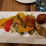 Segundo plato denominado vegetariano