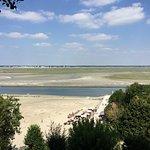 La Baie de Somme vue de plus haut, avec le Crotoy, au loin. En Bateau, on s'y approche et c'est