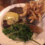 10oz Ribeye Steak with Confit Onion, Fries & Béarnaise Sauce