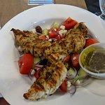 village salad with grilled chicken