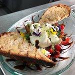 heirloom and tomato salad