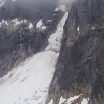 glacier aerial view