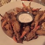 tobacco fried crab claws with dill sauce