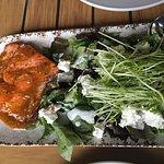 Sockeye salmon and greens