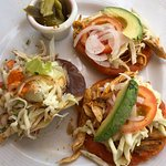 Tostadas and Chicken Salbute
