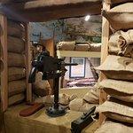 WWI tench exhibit in the 2nd floor