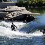 Surfing on the Boise river