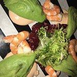 Avocado with gambas (prawns'