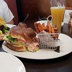 Cordon Blue Sandwich, Sweet Potato Fries