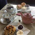 GF scone and a normal cream tea